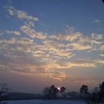 Magia naturii – apus de soare in Iasi, Copou, pe 10.02.2014