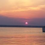 Apus de soare violet