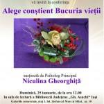 Invitație întru bucurie și cunoaștere la Iași pe 25.01.2015 ora 12